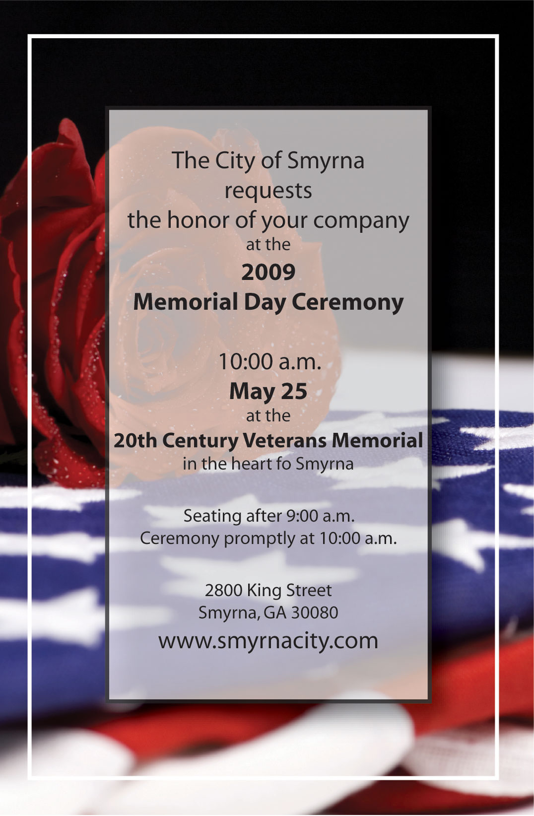 2009 Smyrna Memorial Day Ceremony