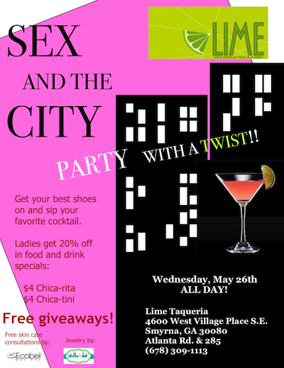 Sex and the City Party at Lime Taqueria