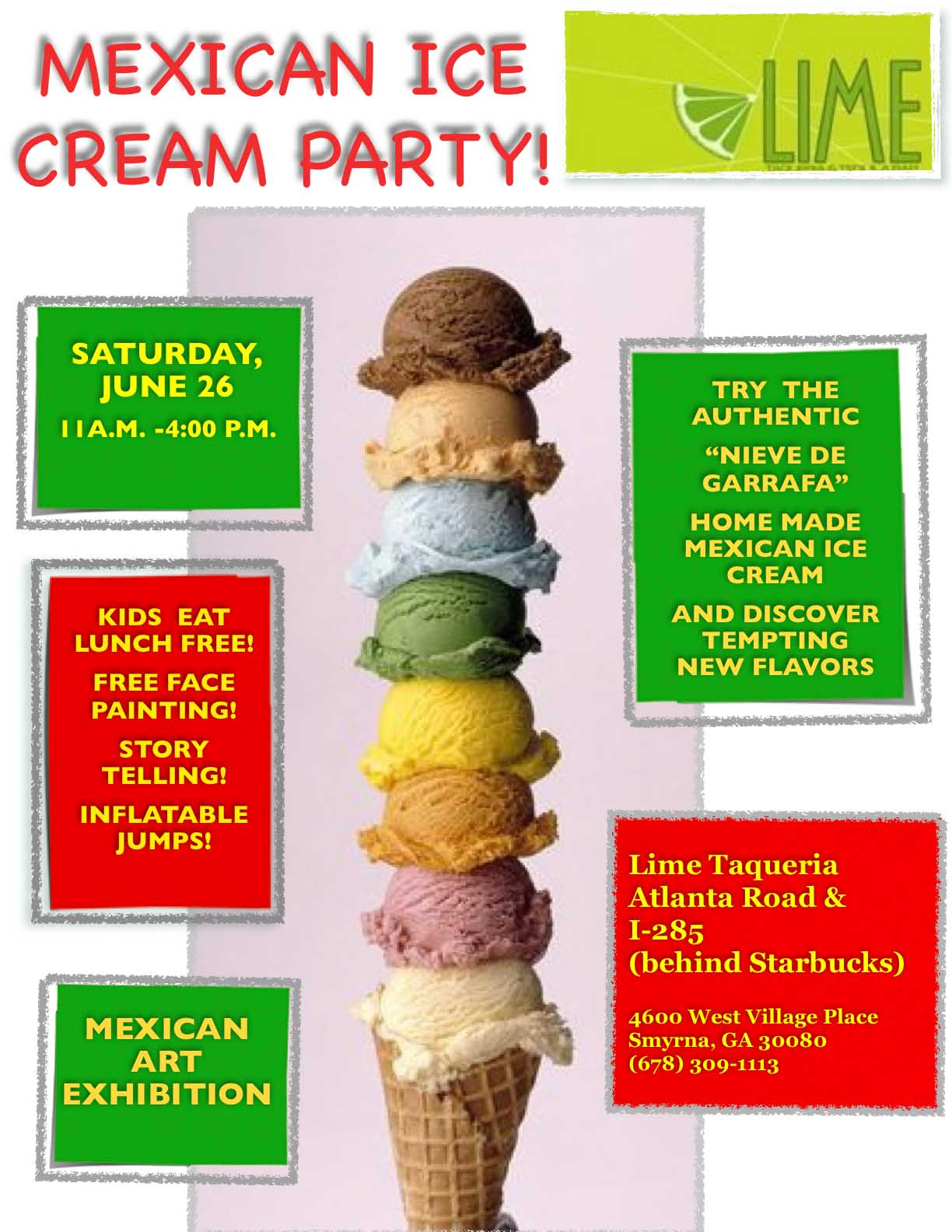 Mexican Ice Cream Party