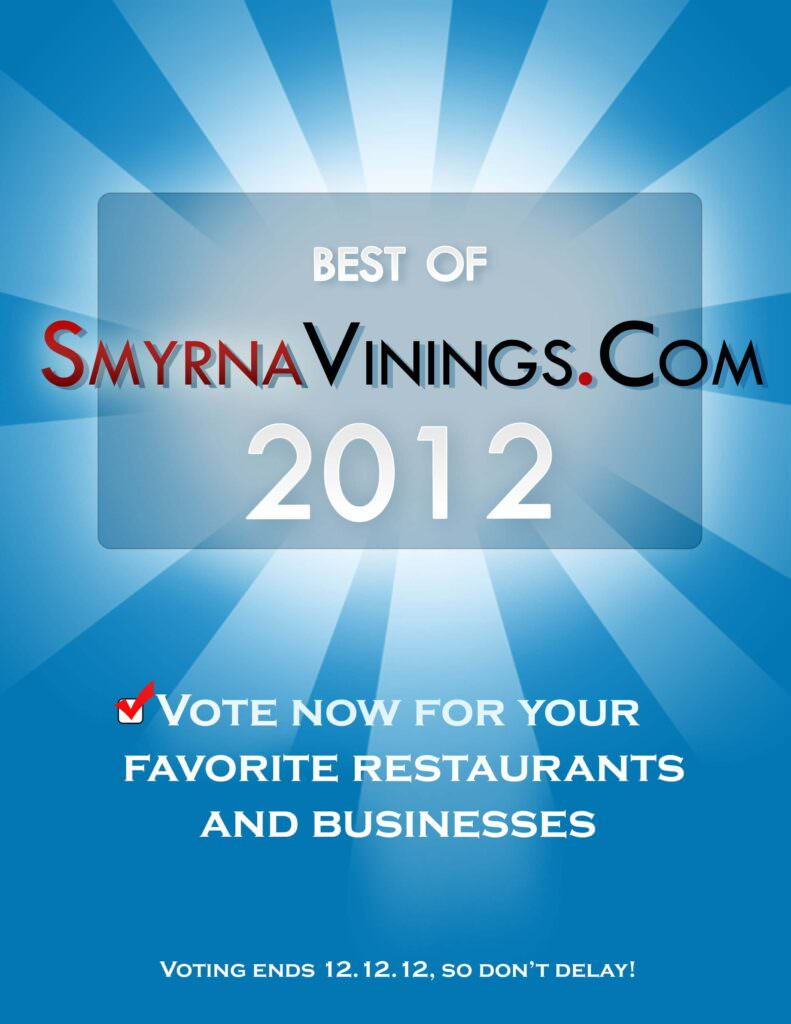 Best of Smyrna Vinings 2012 – ends Wednesday